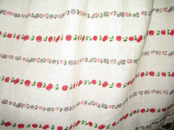 スカートのプリント柄の色泣きアフター