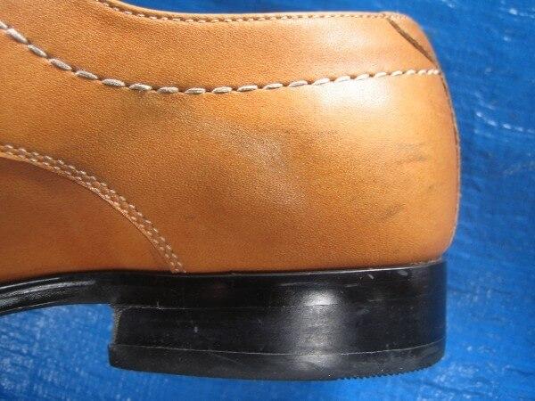 紳士革靴クリーニング・インキングビフォー1