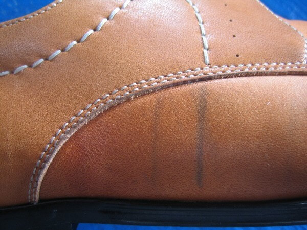 紳士革靴クリーニング・インキングビフォー2