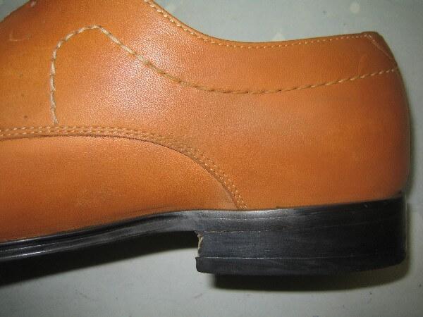 紳士革靴クリーニング・インキングアフター1