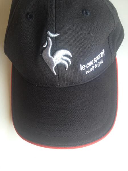 ルコックスポルティフのキャップ・帽子の汗染みアフター