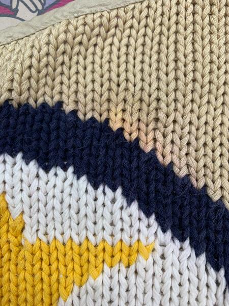 スカートのプリント柄の色泣きビフォー2