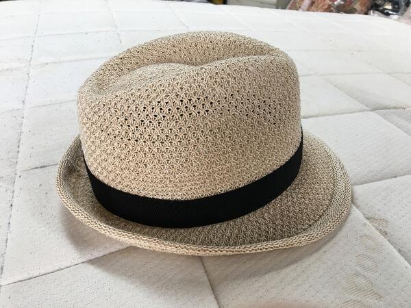 和紙入り帽子・ハットのしみ抜きアフター