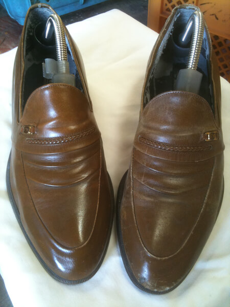 マドラス紳士革靴クリーニング・磨きビフォーアフター1