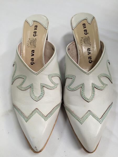 cava cava 婦人靴のつま先キズ直しビフォー