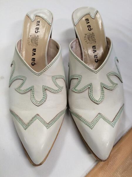cava cava 婦人靴のつま先キズ直しアフター