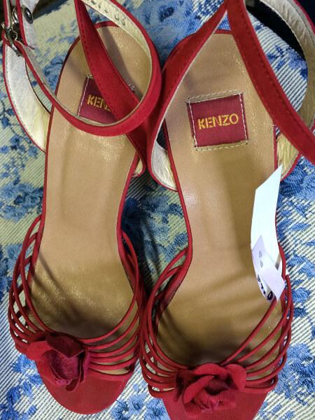 KENZO婦人靴の中敷き修理(交換)アフター