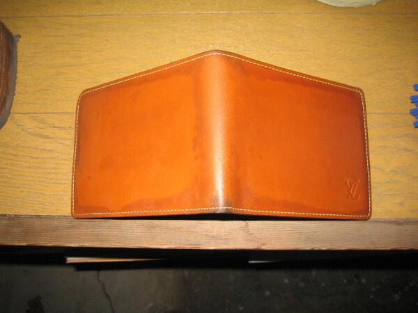 イブサンローラン二つ折りレザー財布ビフォー