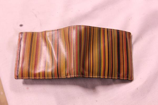 ポールスミス二つ折りレザー財布ビフォー1