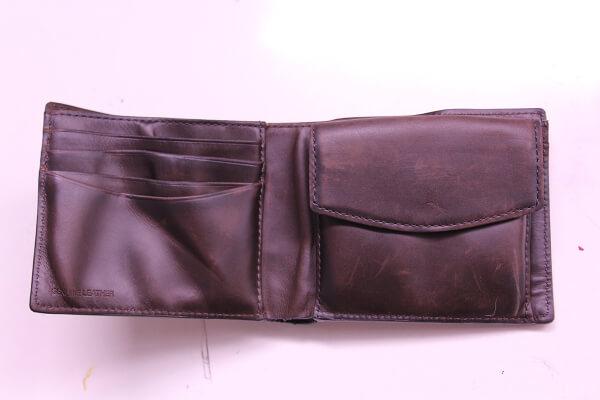 ポールスミス二つ折りレザー財布ビフォー2
