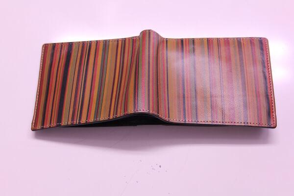 ポールスミス二つ折りレザー財布アフター2