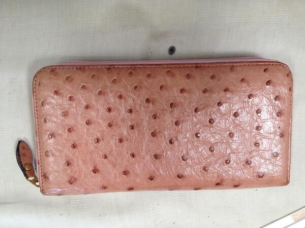 オーストリッチ長財布の日焼けの修復アフター