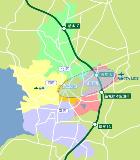 熊本市集配エリア地図