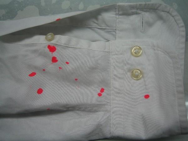 ワイシャツ蛍光ペンのシミビフォー