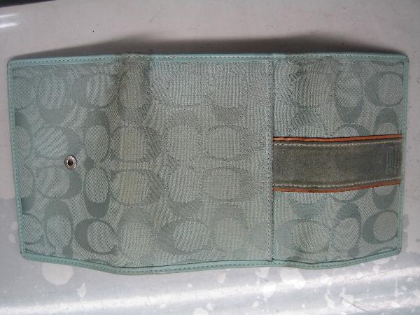 コーチCOACH財布スウェード色修正ビフォー