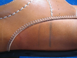 紳士革靴クリーニング・インキング
